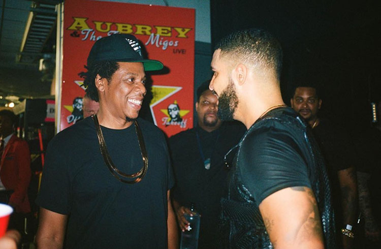JAY Z And Drake Backstage